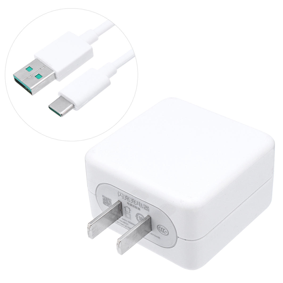 OPPO VOOC Fast USB Charger 5V4A US Plug Power Adapter/USB-C Cable For R17 find X