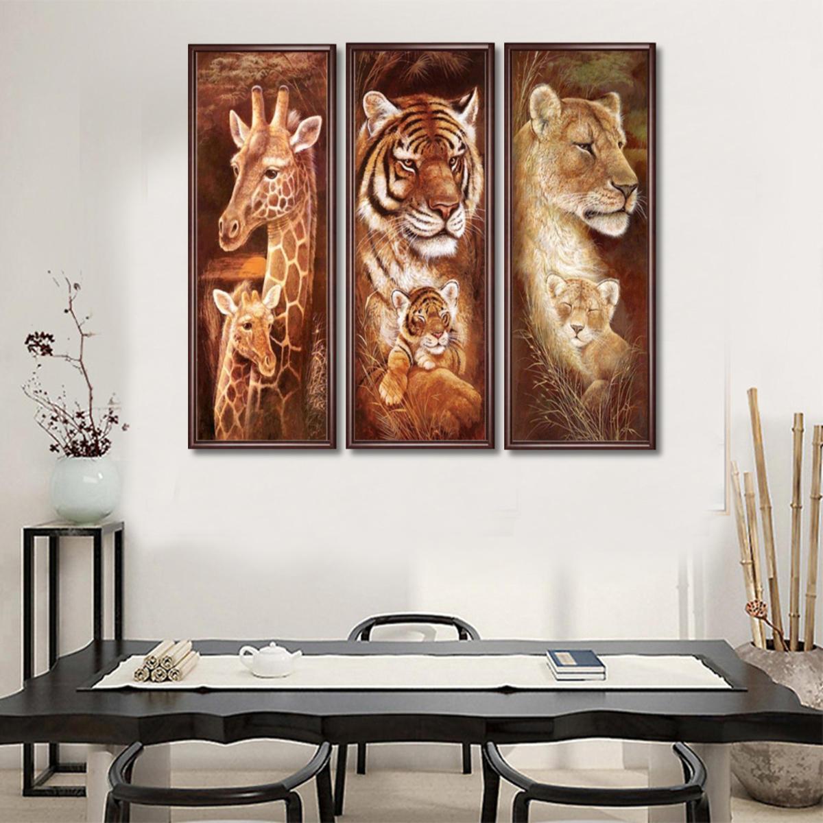 5D DIY Pełna wiertła diamentowe malowanie zwierząt ściegu Haft dekoracje do domu