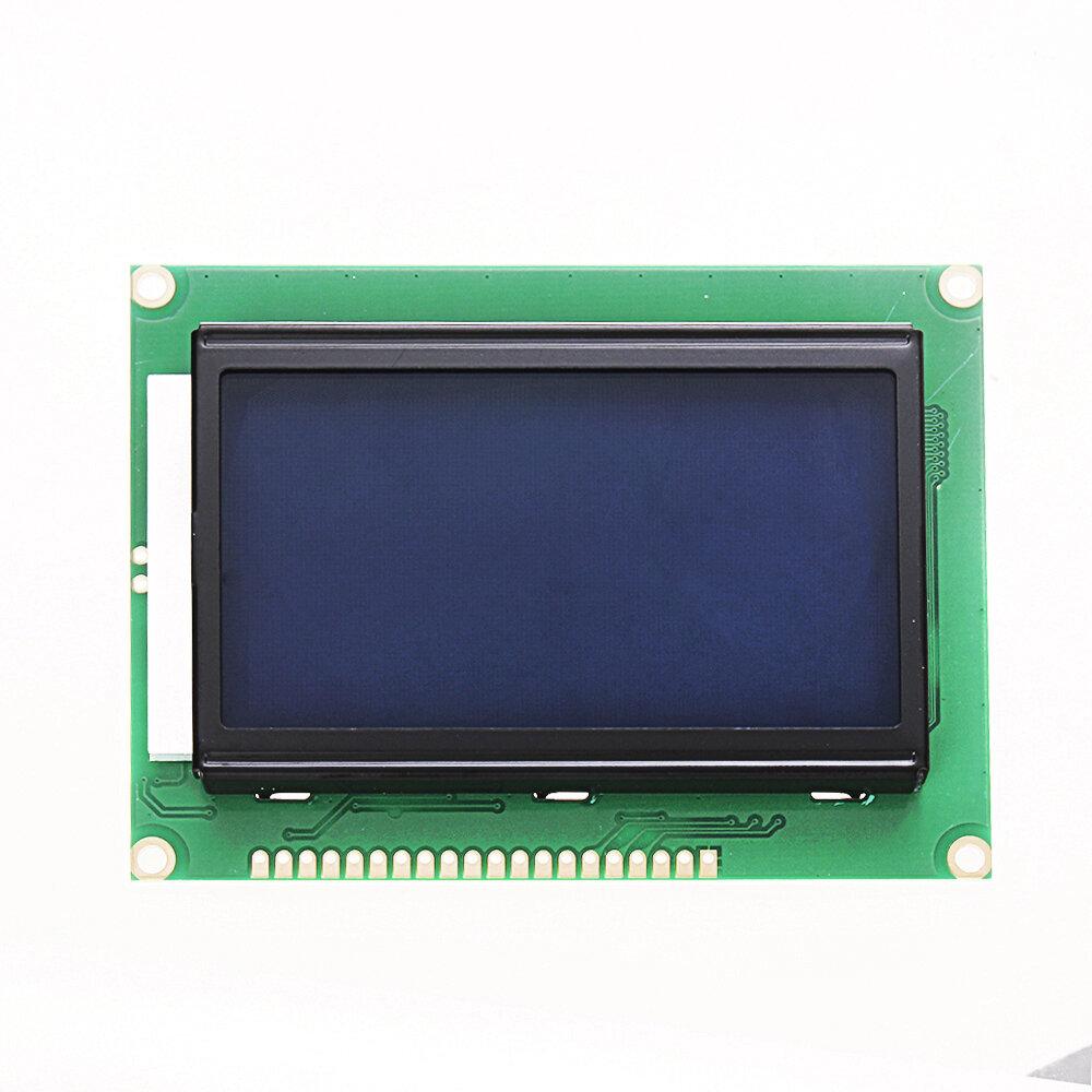 12864 128 x 64 Grafis Simbol Font Modul Layar LCD Backlight Biru Untuk