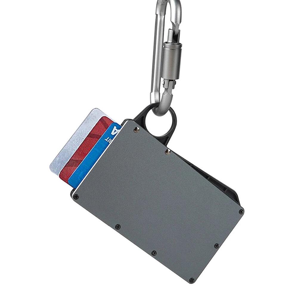 Banggood / Модный алюминиевый держатель для кредитных карт с петлей для пальцев Портативный RFID блокирующий кошелек для карт Станд