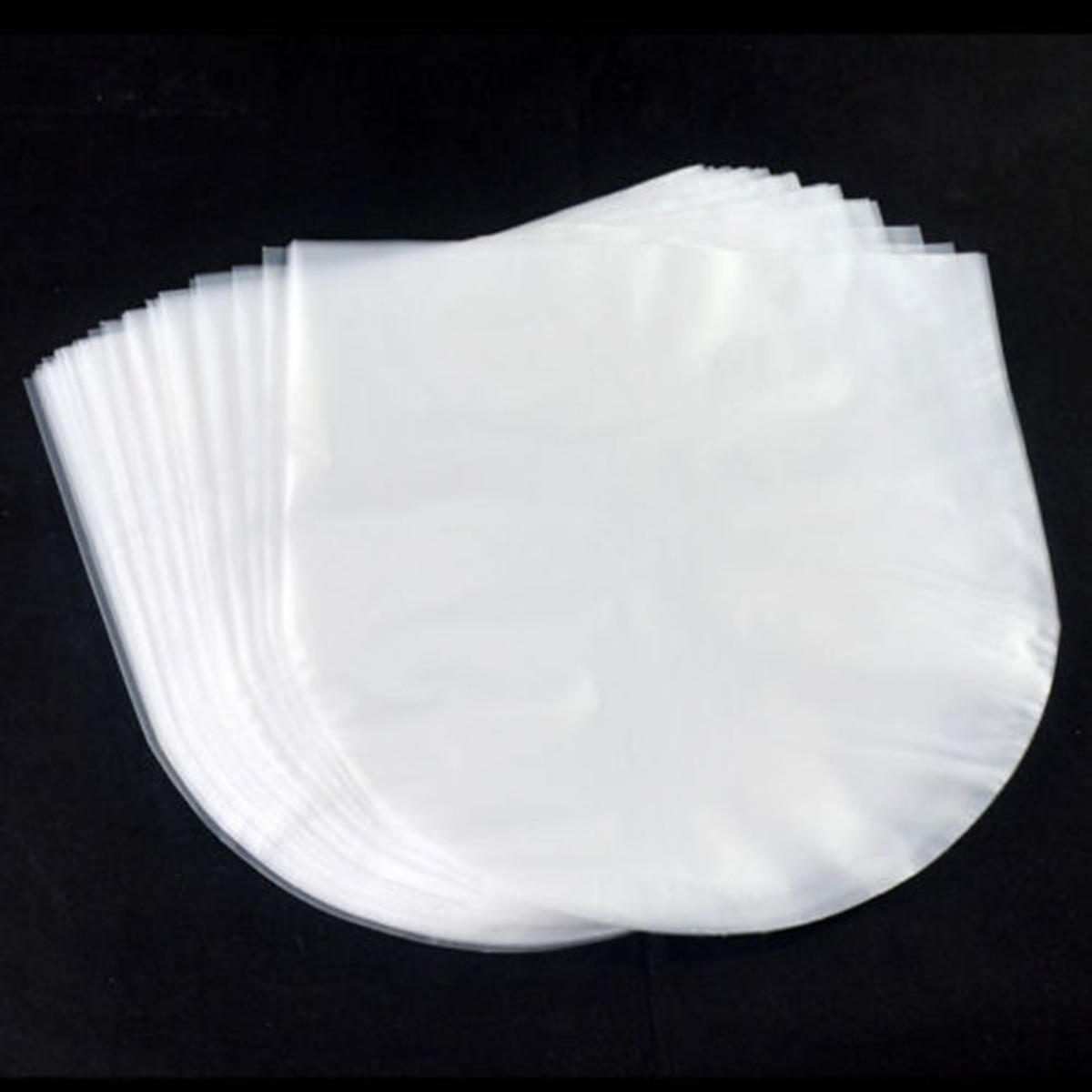50Pcs/Set Antistatic Clear Plastic Cover Inner Sleeves for 12'' LP LD Vinyl Record