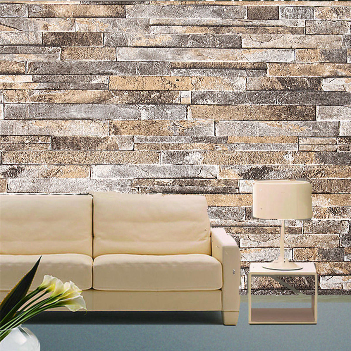 3d Wall Paper Brick Stone Pattern Vinyl Wallpaper Roll Living Room Tv Background Decor