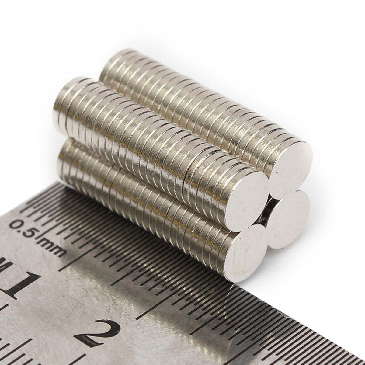 100 adet N52 6x1mm Disk Neodimyum Mıktanıs Güçlü Rare Toprak Küçük Buzdolabı Mıknatıslar