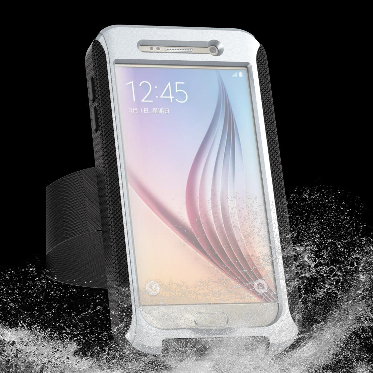 newest 8d72c ea16d AD Series IPX68 Waterproof Heavy Duty Protection Case With Arm Band For  Samsung Galaxy S6