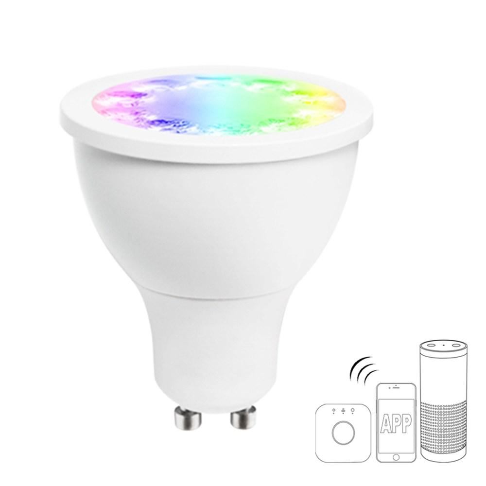 GLEDOPTO GL-S-003Z AC110-240V ZIG.BEE ZLL RGBW GU10 5W LED Spotlight Bulb Work with Amazon Echo Plus