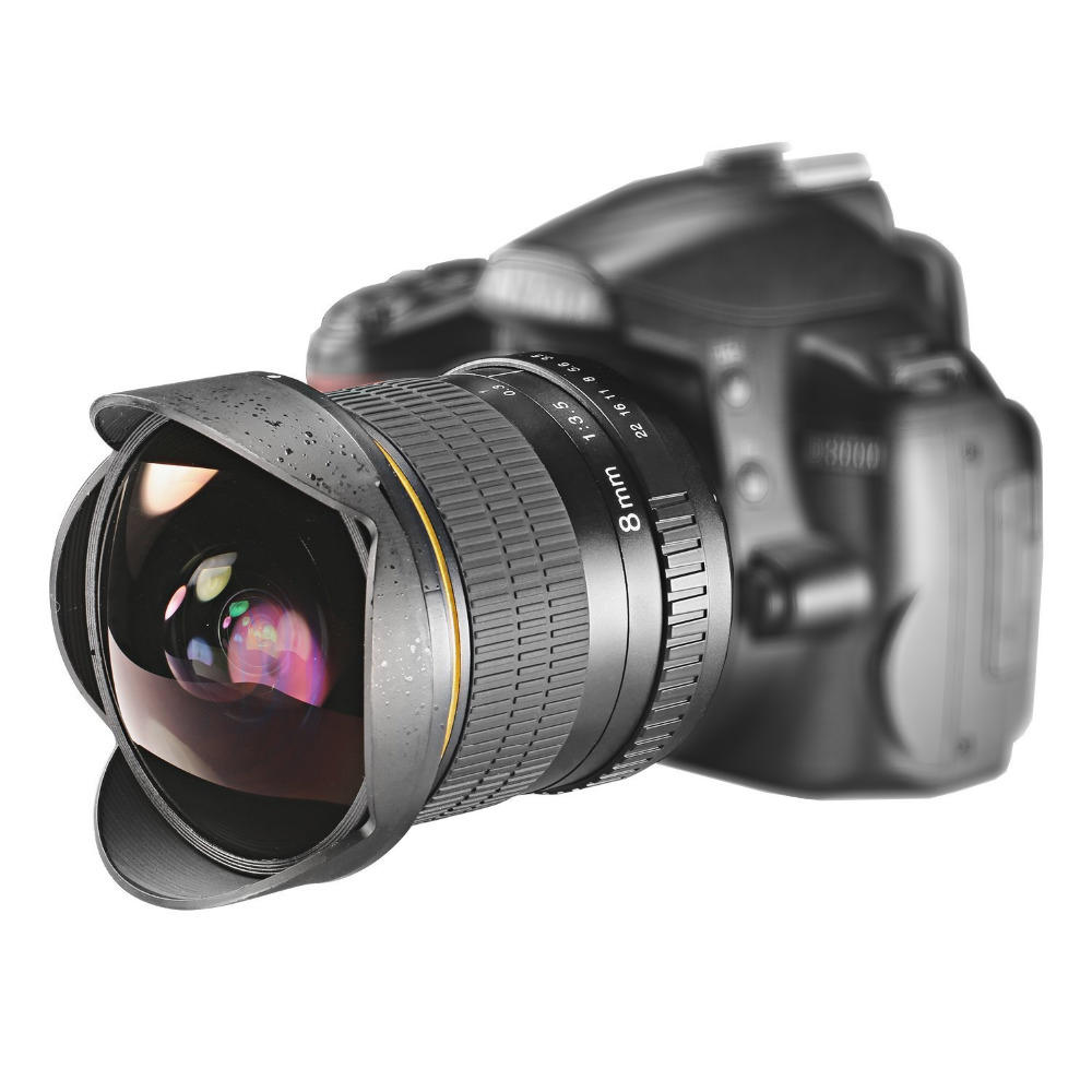 Lightdow 8mm F/3.5 Manual Ultra Wide Angle Fisheye Lens for Canon for on