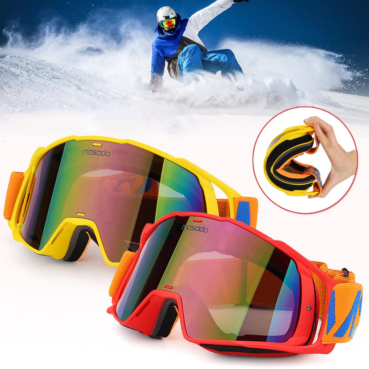 MSD78 al aire libre Esquí gafas de patinaje sobre ruedas Moto de nieve Gafas Protección contra el viento antivaho UV Protección para hombres Mujer Gafas de motociclismo para deportes de nieve