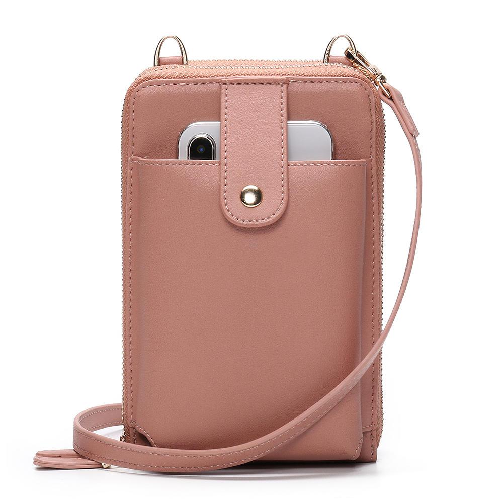 Brenice Women Double Sided Multifunction Clutch Bag Phone Bag Crossbody Bag