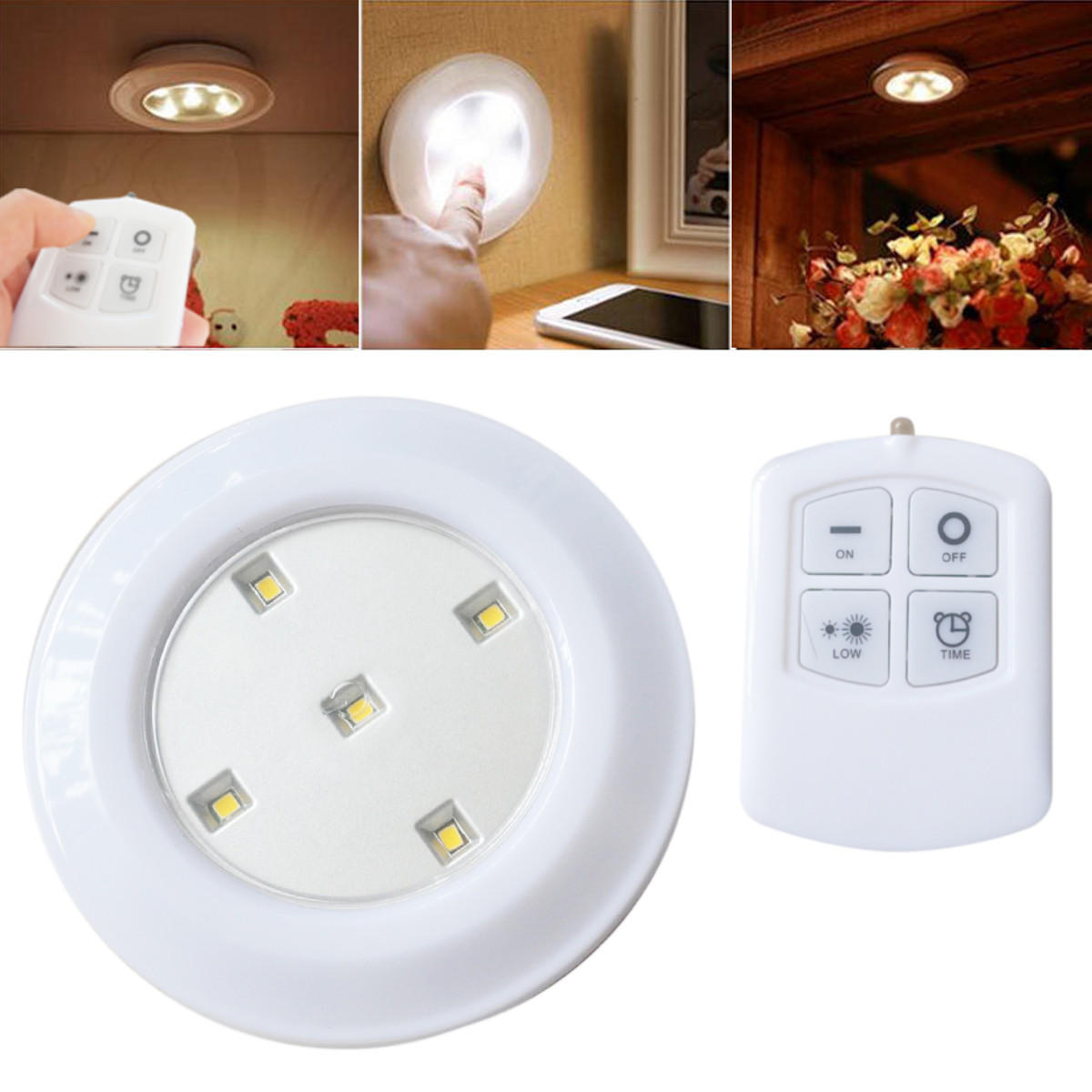 Wireless Remote Control Bright Led Night Light Battery Ed Ceiling Lamp For Kitchen Cabinet