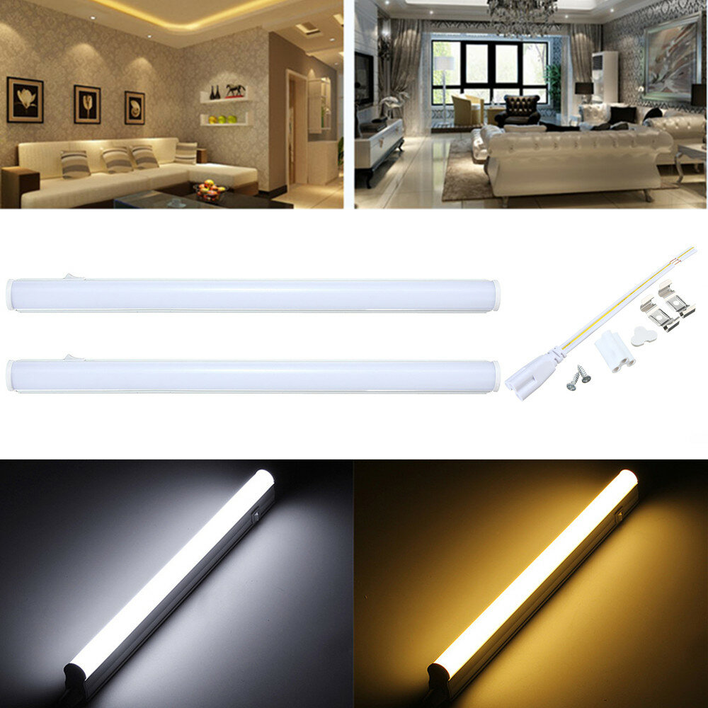 30cm 5w 440lm Smd2835 T5 Led Fluorescent Tube Light With Switch Warm Pure White Ac85 265v