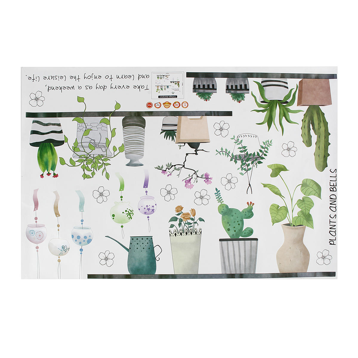 DIY Creative Potted Plant Cactus Wall Sticker Cute Art Vinyl Decal Mural Home Bedroom Decor