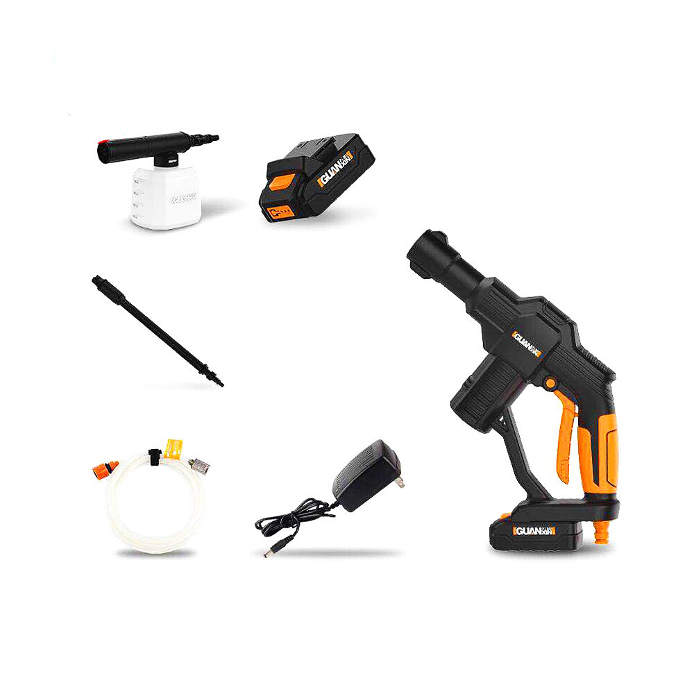 GUANXIN™ 20V Lithium Battery Car Portable Cordless High Pressure Washer Cleaner Basic Version