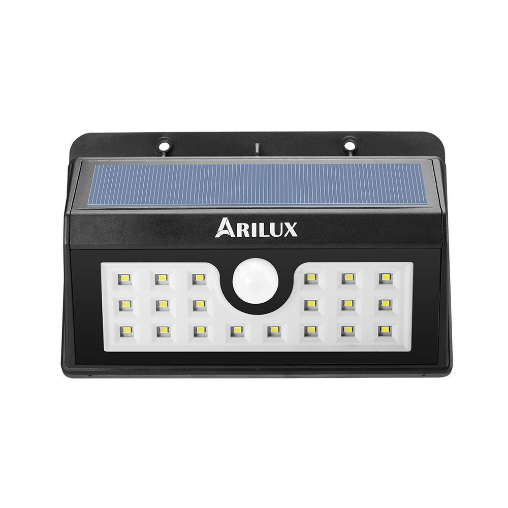 ARILUX® PL-SL 02 Wireless Солнечная Powered 20 LED Водонепроницаемы PIR Motion Датчик На открытом воздухе Настенный светильник