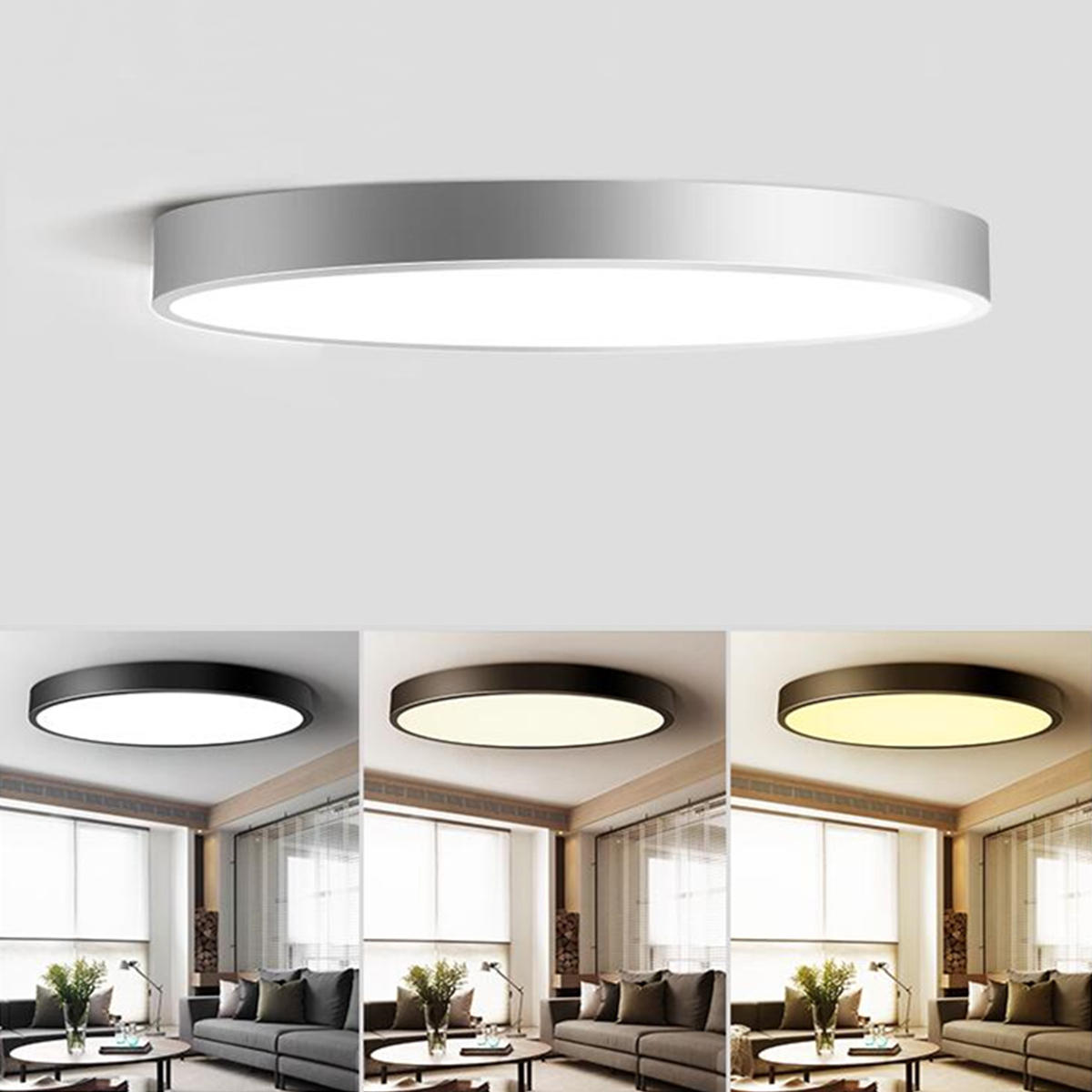 online retailer 73358 2c25d 18W Modern Dimming Round LED Ceiling Light Surface Mount Lamp for Foyer  Porch Bedroom AC220V