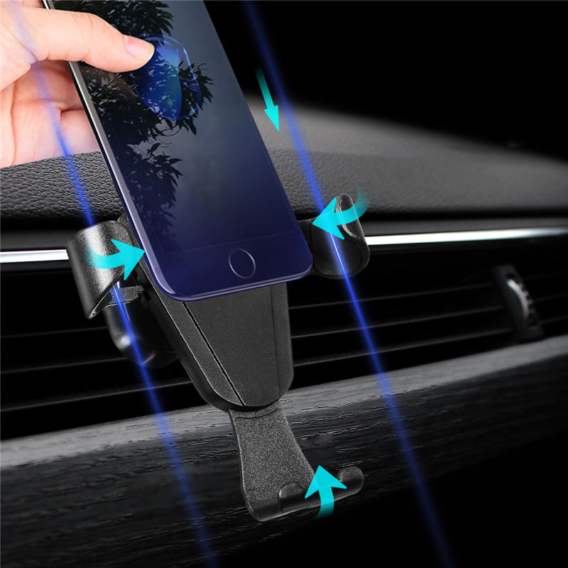 Universal Gravity Car Air Vent Holder Outlet Phone Mount Bracket for Samsung iPhone X iPhone 8, Banggood  - buy with discount