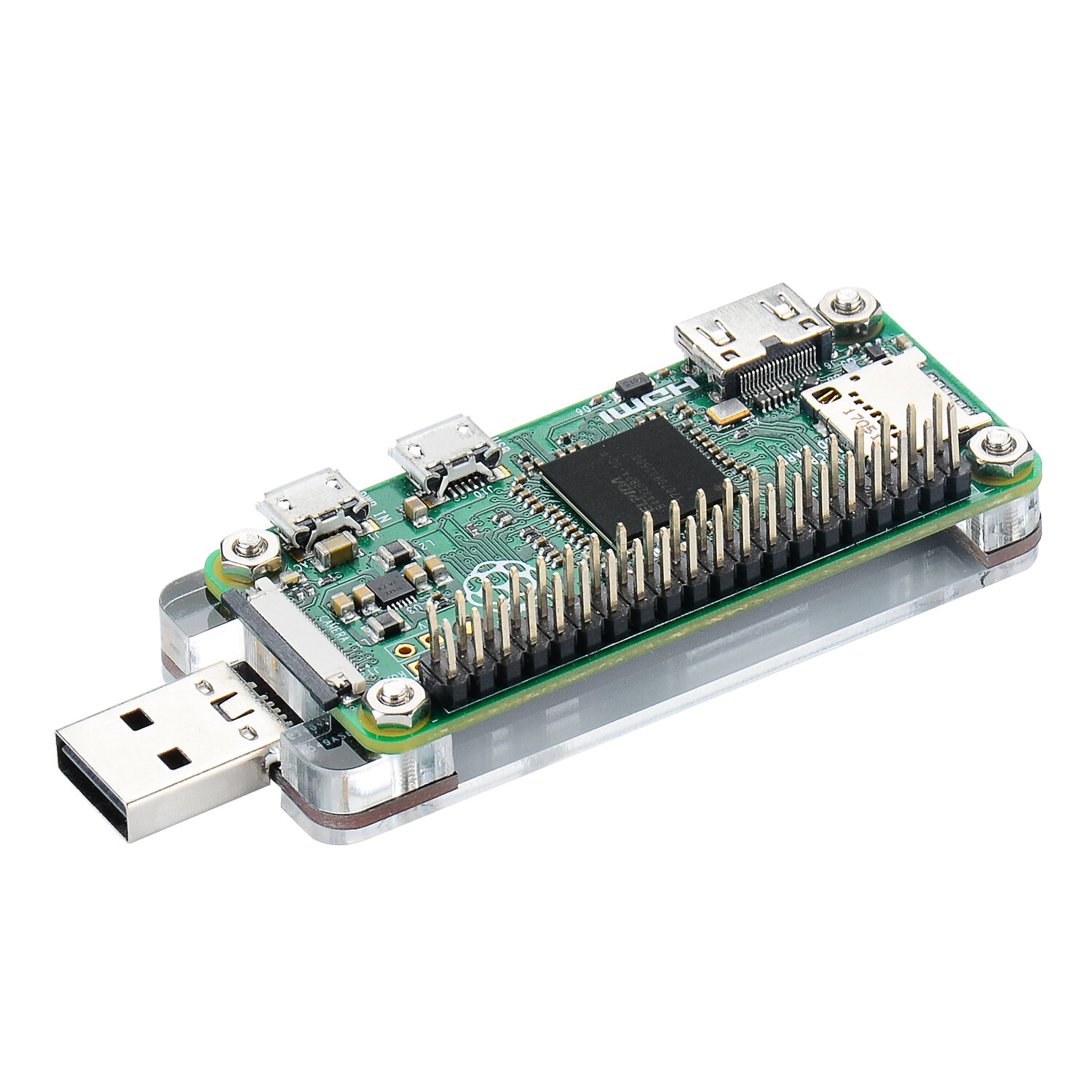USB Dongle With Acrylic Shield for Raspberry Pi Zero / Zero W