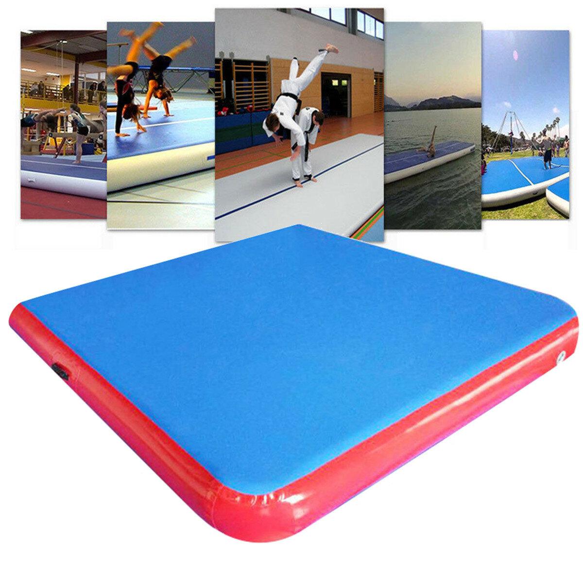 79×79×4inch Inflatable GYM Air Track Mat Airtrack Gymnastics Mat Tumbling Climbing Pilates Pad