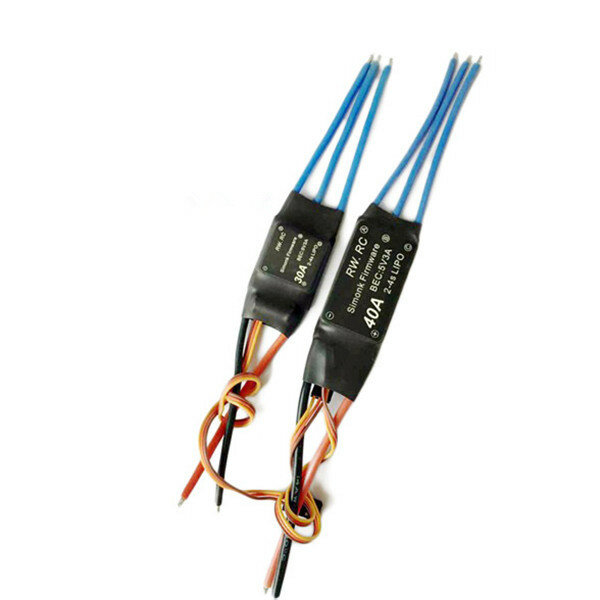 Simonk 30A/40A 2-4S Brushless ESC Speed Control for RC FPV Racing Drone