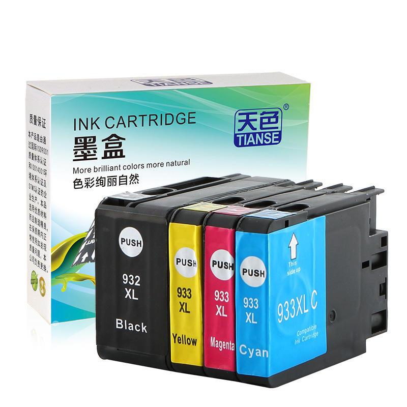 TIANSE 932XL Ink Cartridge For HP 932 XL 933 HP932XL For HP 932XL 933XL HP932 XL For HP Officejet 6100 6600 6700 7110 76