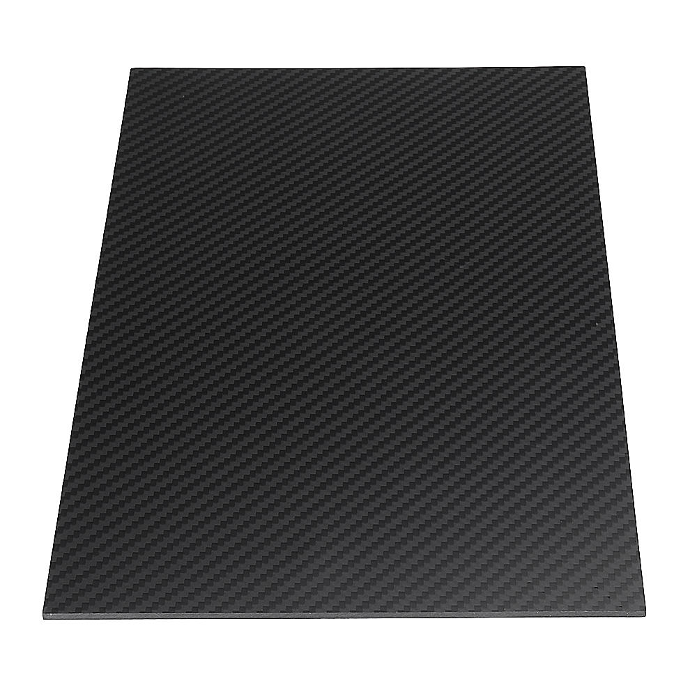 200X250mm 3K कार्बन फाइबर बोर्ड कार्बन फाइबर प्लेट टवील बुन मैट पैनल शीट 0.5-5 मिमी मोटाई