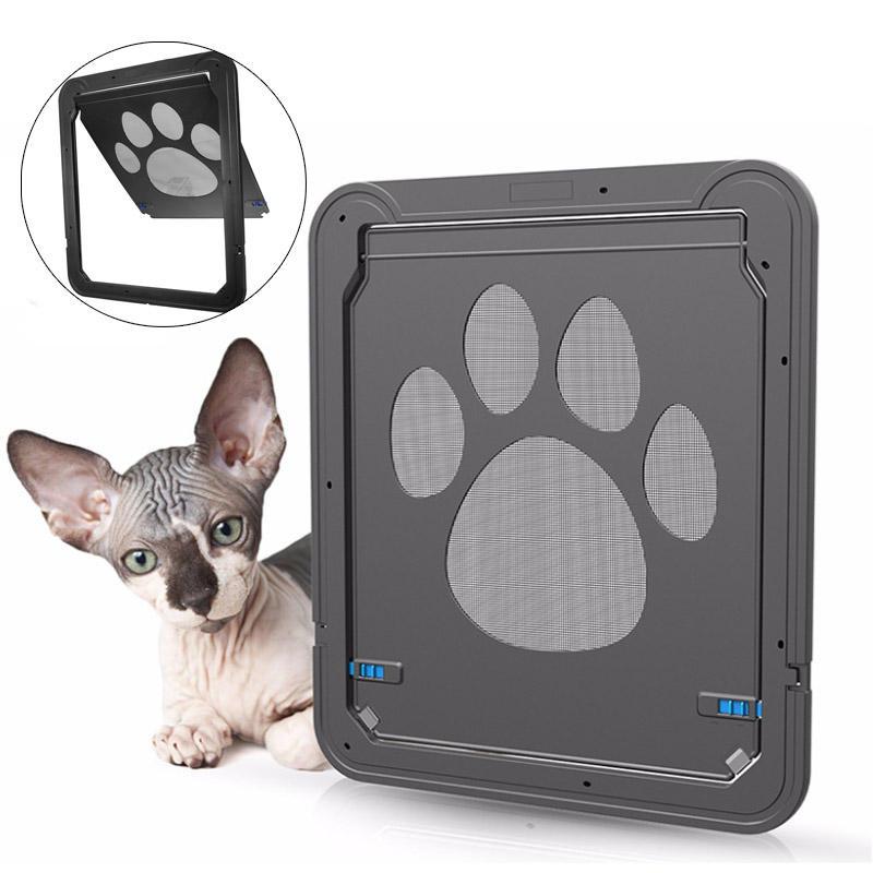 37x42cm Large Medium Dog Cat Pet Door Screen Okno ABS Magnetyczne zamki automatyczne