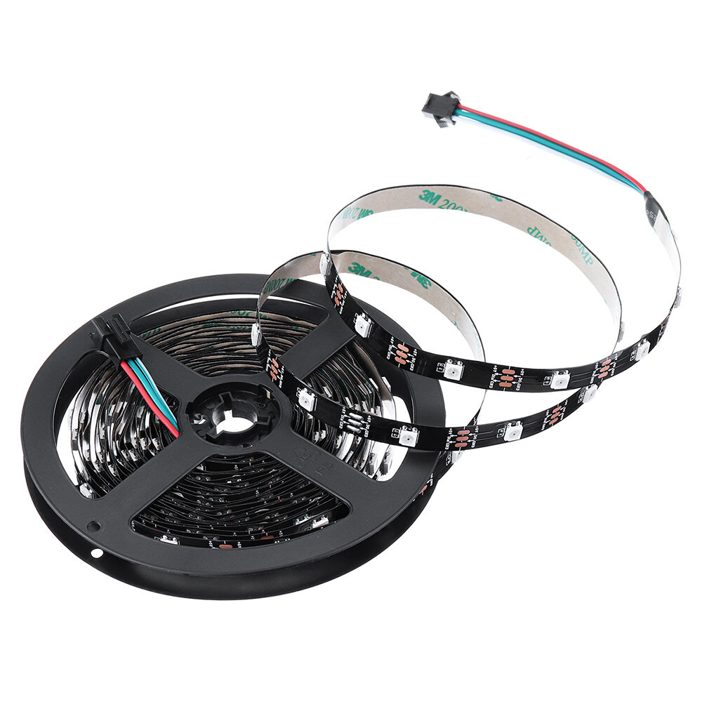 RGB 5050 5V WS2812 Programmable USB LED Strip Light 6M 60 Bits / 30 Bits Per Meter For RC Drone FPV Racing Multi Rotors
