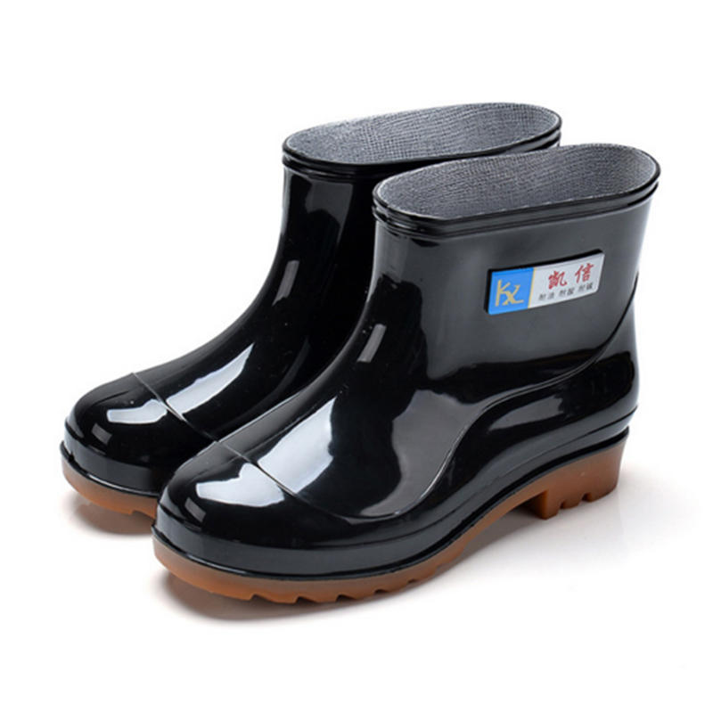 Specifications:ItemRain BootsGenderMenToe ShapeRoundUpper MaterialPVCOutsole MaterialRubberOccasionCasual,Outdoor,Rain,SnowSeason:SummerFeaturesWaterproof, Non-slip, BreathableFasteningSlip onColorBlackSizeUS Shoe Size(Mens):7.5-10UK Shoe Size(Mens):6.5-9EUR Size:40-44MenssizechartEURUSUKAUCNShoesLengthCMInches396.55.55.53924.59.65407.56.56.540259.84418774125.510.04428.57.57.5422610.24439884326.510.43441099442710.634510.59.59.54527.510.8346111010462811.02471211.511.54728.511.2248131212482911.4Note:Theshoesizeissmallerthanthestandardone,pleasechoosethebiggerwhenyoubuythem.Note:1.Please allow 1-3cm error due to manual measurement. Please make sure you do not mind before you bid.2.The colors may have different as the difference display, please understand.3.Some shoes will have slight smell because they come fresh off factory, so if you receive the odorous shoes please put them in the vent.4.Some tags UK/US size number may be different from our tag size/ EUR size, please take our size chart as the standard reference.Package Included:1pair x Shoes (Without Box)