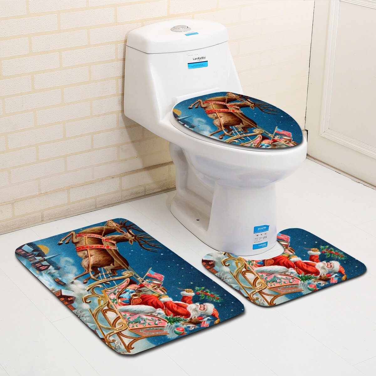 Marvelous Washable Bathroom Toilet Seat Covers Bathroom Carpet Anti Slip Bathroom Mat Set Bath Floor Mats Gmtry Best Dining Table And Chair Ideas Images Gmtryco