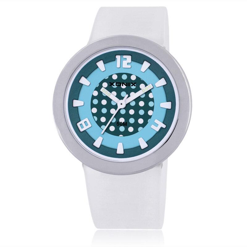 XONIX WD-J Reloj para niñas Impermeable 50M Reloj en PU Banda Reloj infantil de cuarzo lindo para niños