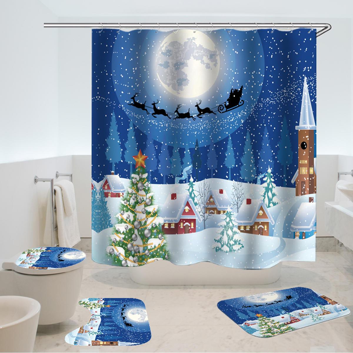 Shower Curtain Set Waterproof