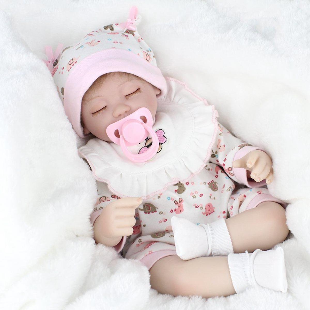 NPK 16 Inch 41cm Reborn Baby Realistic Soft Silicone Doll Handmade Lifelike Baby Girl Dolls Play House Toys Birthday Gift