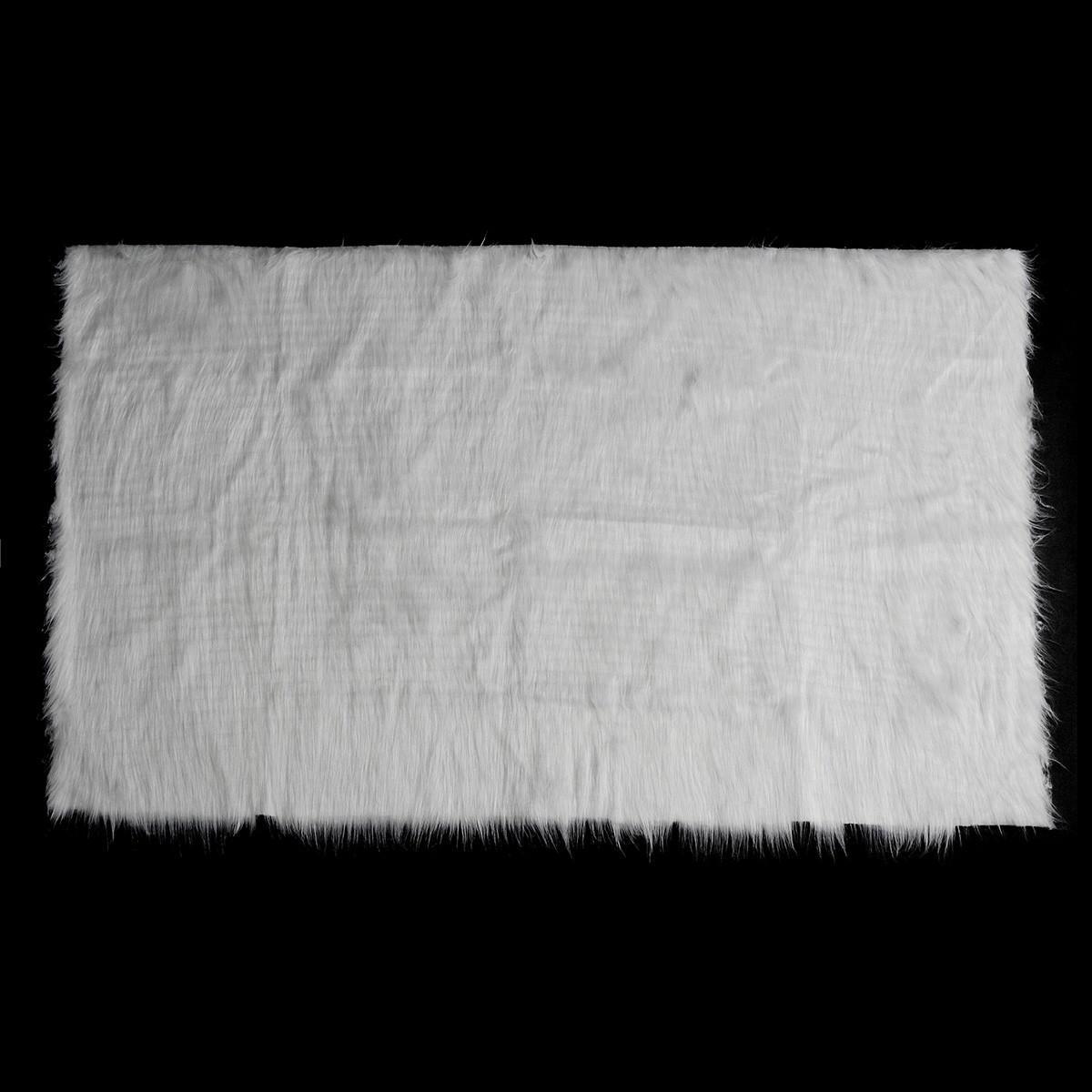 Fondali fotografici in tessuto di pelliccia bianca di pelliccia shaggy con tessuto lungo prop
