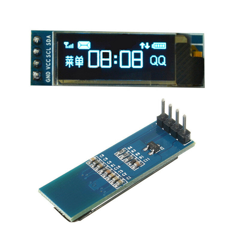 Geekcreit 0.91 Inch 128x32 IIC I2C Blue OLED LCD Display DIY Oled Module SSD1306 Driver IC DC 3.3V 5V For  PIC