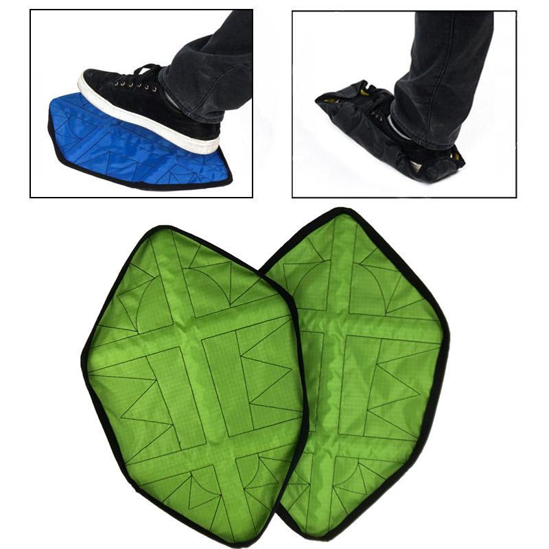 2Pcs / Pair Copriscarpe riutilizzabili Coperchio automatico per scarpe da interno per esterni campeggio