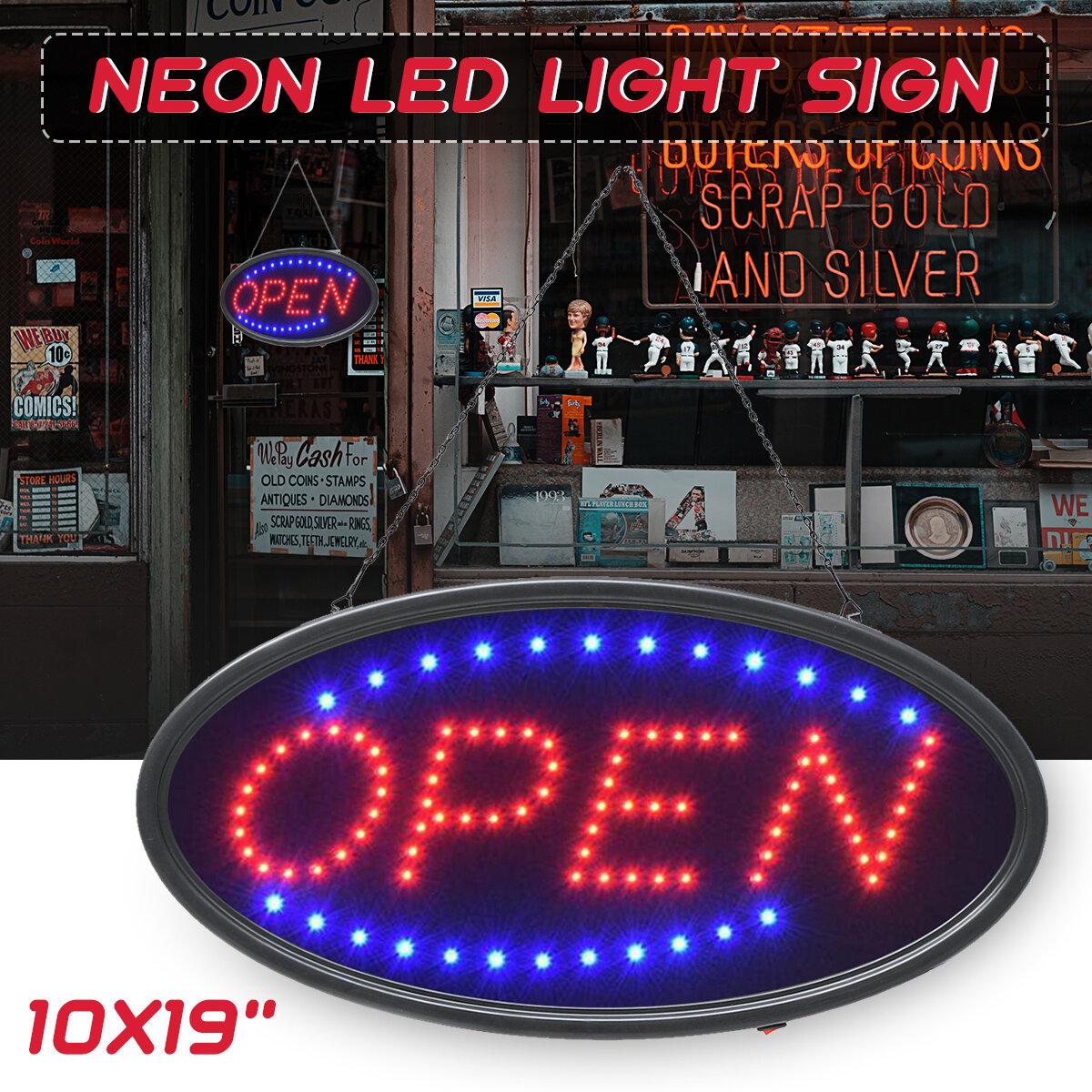 معلقة مفتوحة LED تسجيل إعلان نيون ضوء مع وميض للأعمال بار مخزن الاتحاد الأوروبي / US التوصيل