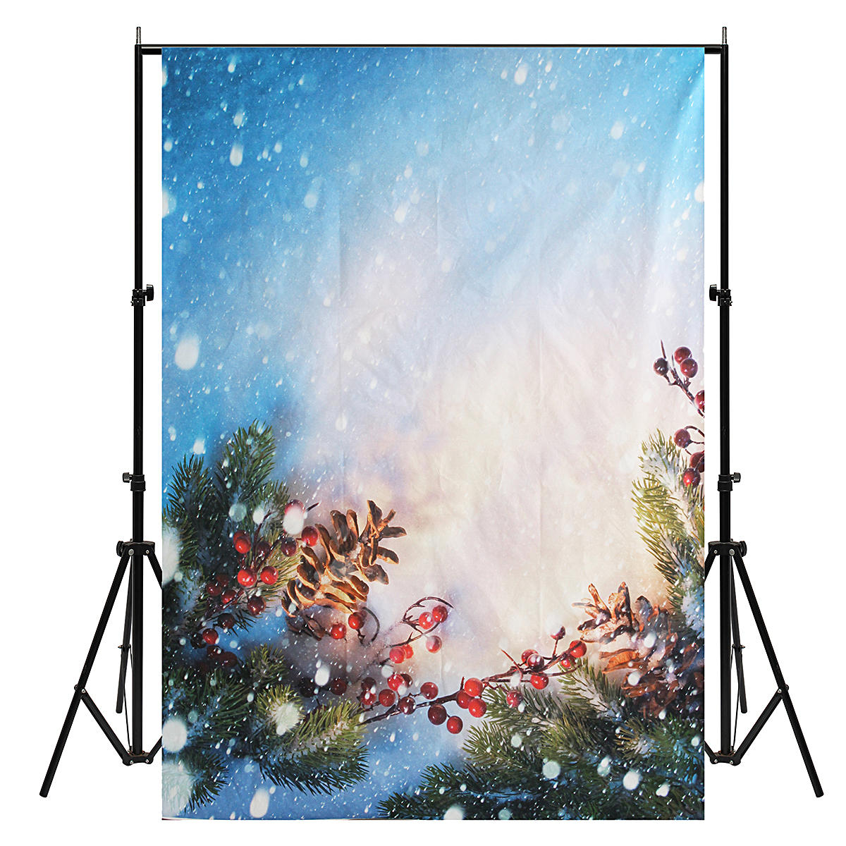 5X7ft Christmas Snow Vinyl Photography Studio Backdrop Photo Background