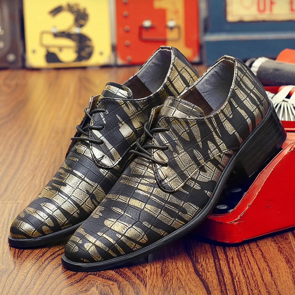 पुरुषों कॉम्फी लेदर पैर की अंगुली व्यापार जूते औपचारिक जूते