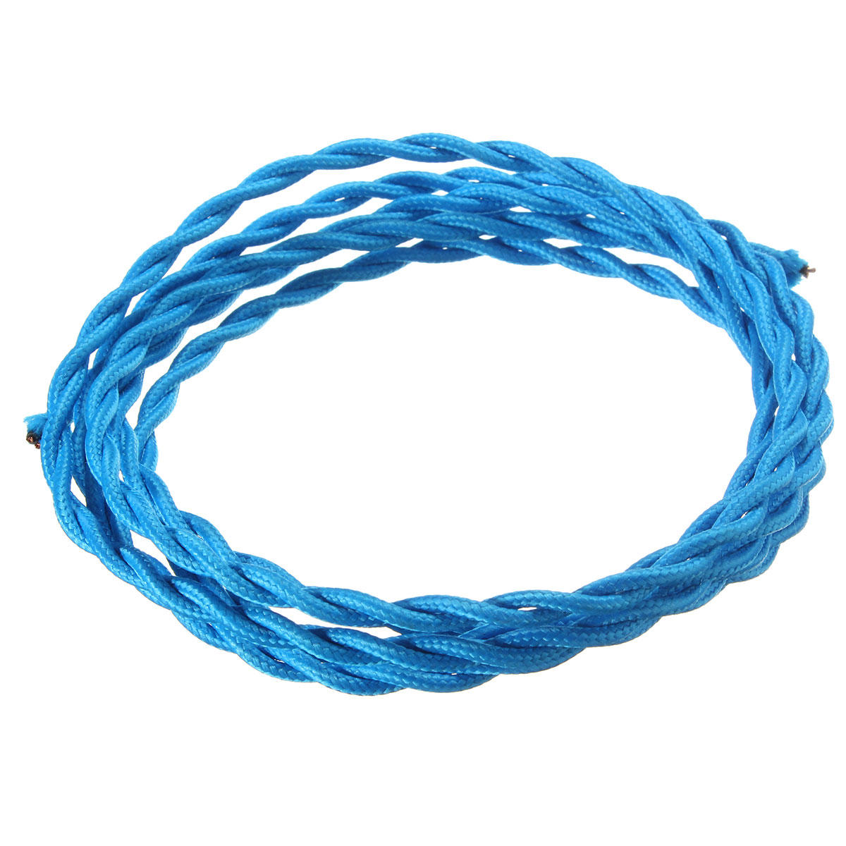 LED Light Vintage 0.75MM 2 Core Twist Braided Fabric Cable Wire Electric Cord for Pendant Lights 3M Light Color : Cyan-Blue