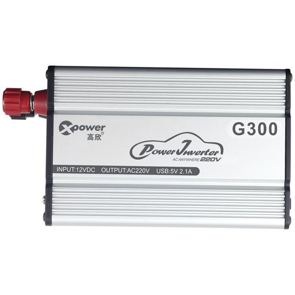G300 Car Power Inverter Charger USB 2.1A AC 220V 300W