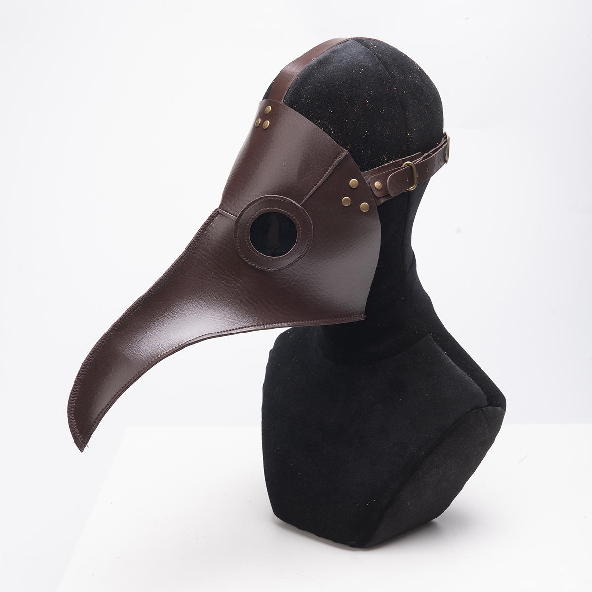Plague Doctor Mask Long Nose Bird Beak Steampunk Halloween Costume Props Mask Grey