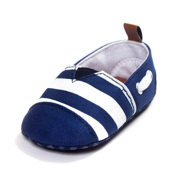 Stile marinaio bambino ragazza blu molli soli primi scarpe da trekking