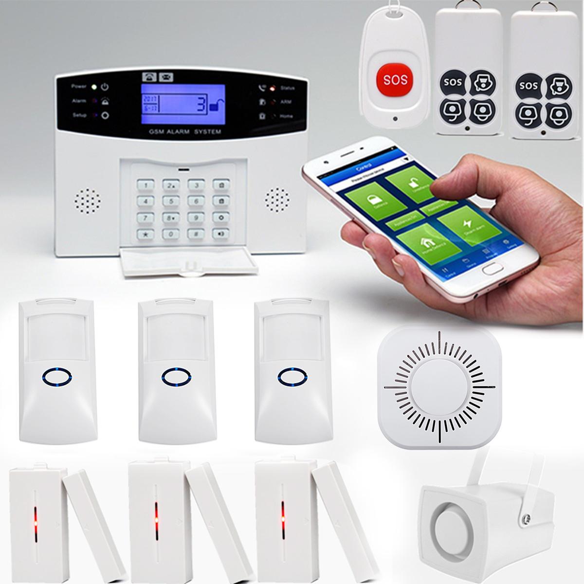 Sms Gsm Wireless Home Burglar Alarm Security System Pet Immune Pir