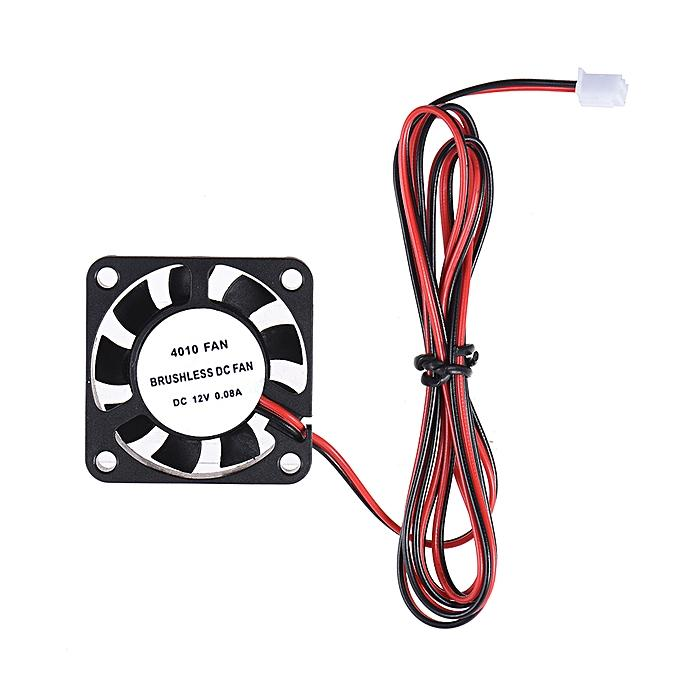 40mmx40mmx10mm DC 12V 0.08A DIY Brushless Cooling Cooler Anti-fog Fan JST-XH 2.5mm 2P Wire for RepRap i3 DIY 3D Printer FPV Goggles Transmitter