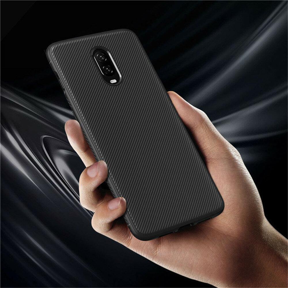 Bakeey ™ Carbon Fiber Shockproof Soft Ốp lưng TPU Bảo vệ cho OnePlus 6T