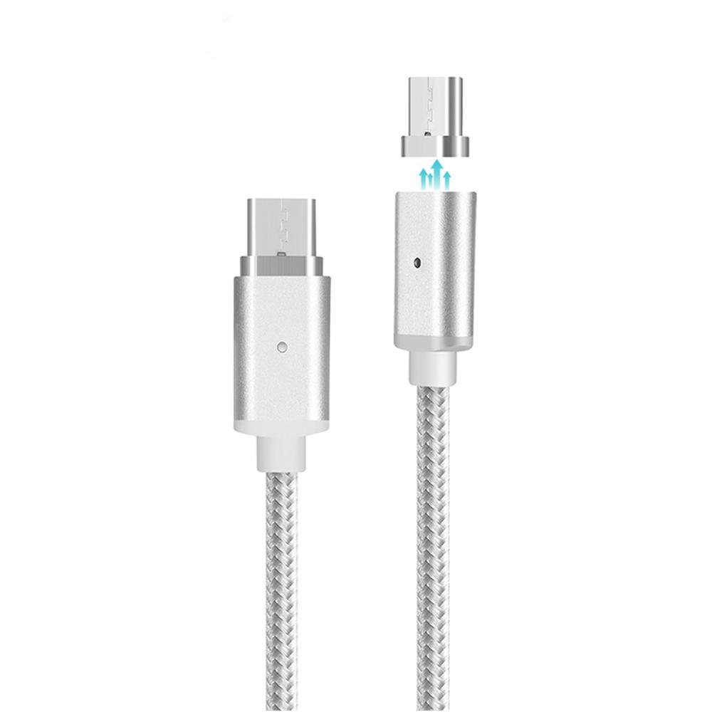 Bakeey ™ USB Type-C 1M Magnetyczny Nylon Pleciony kabel do ładowania danych do Nexusa Macbook Letv MEIZU