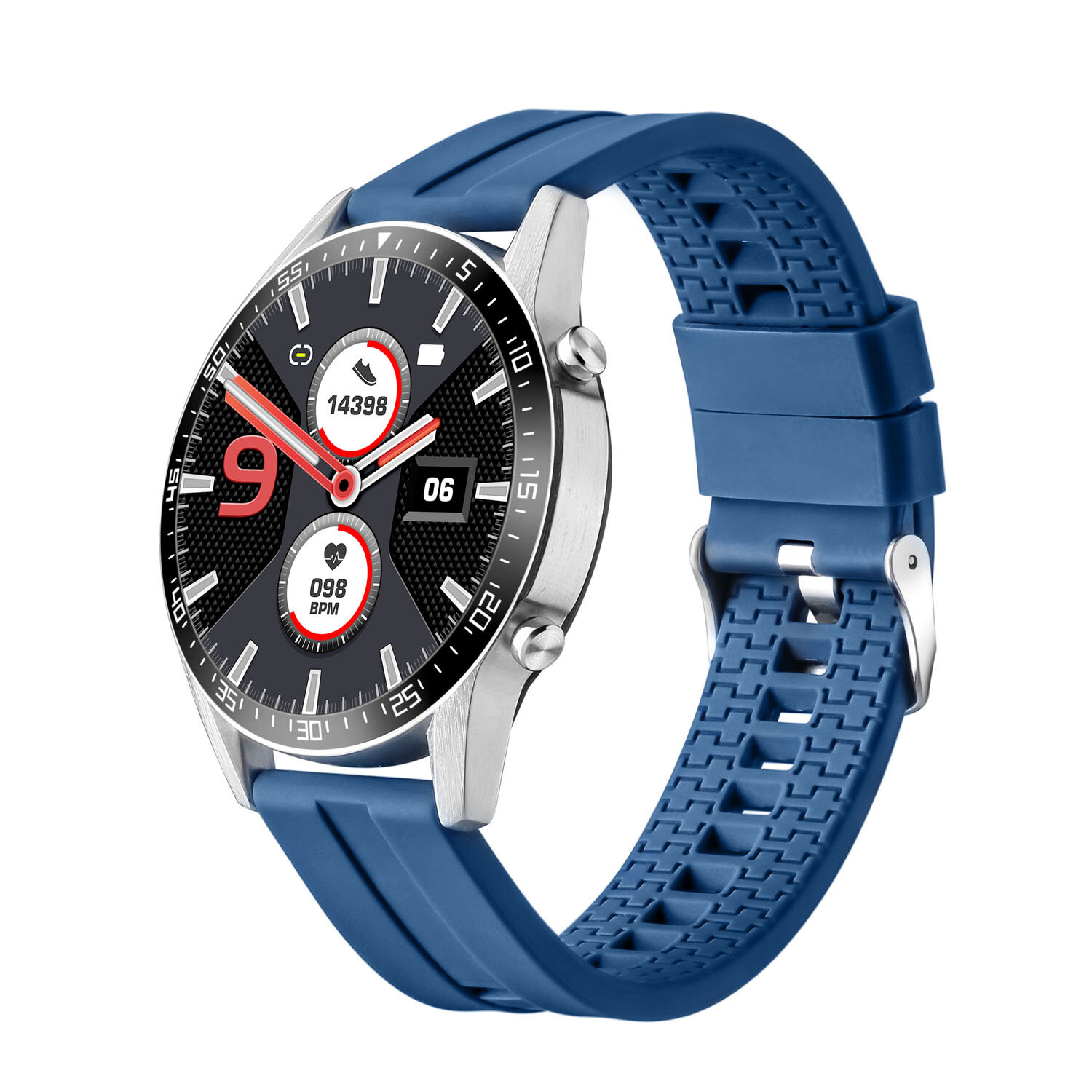 Bakeey GTX 1.3inch Full-round Touch Screen 24h Heart Rate Blood Pressure Oxygen Monitor Music Contorl Weather Push Smart