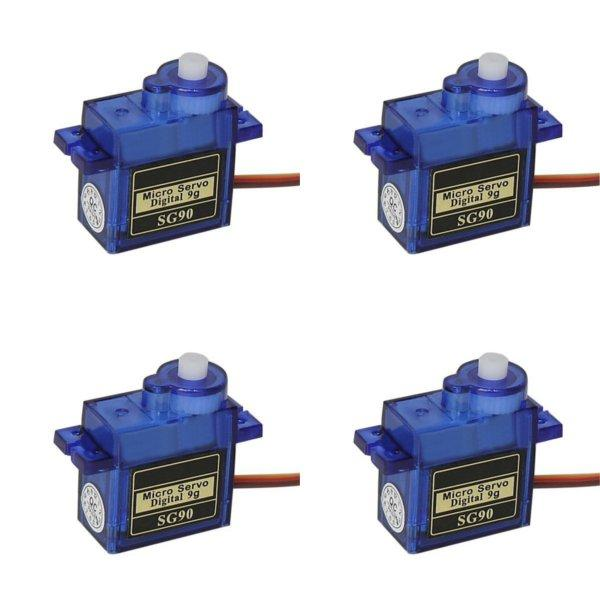 4X SG90 Mini Micro Digital Servo 9g For RC Models