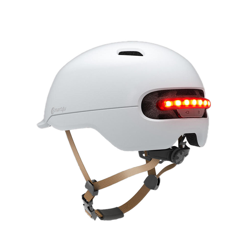 Smart4u SH50 Cycling Helmet Intelligent Back LED Light EPS Adjustable Breathable Ventilation IPX4 Motorcycle Mountain Road Scooter For Men Women From Xiaomi Youpin