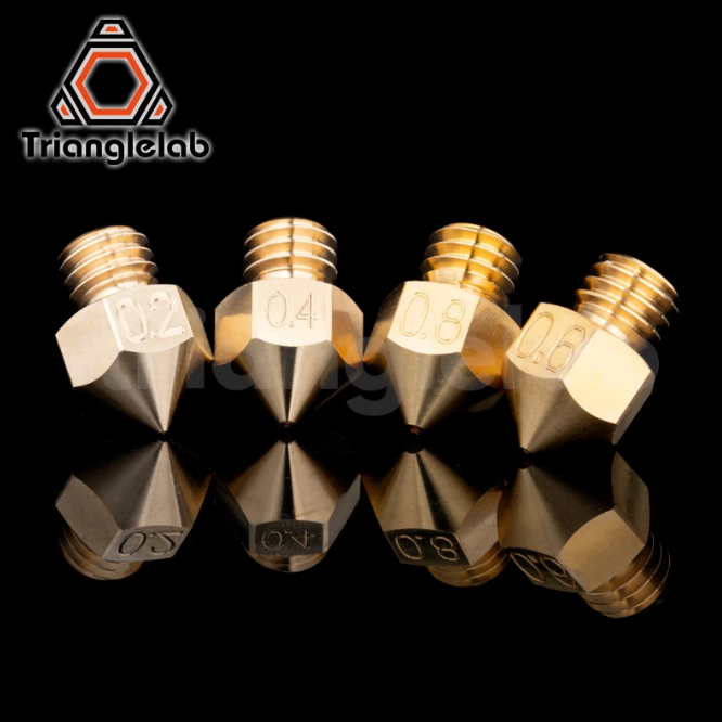 Trianglelab® / Dforce® MK8 Латунное сопло 1,75 мм Нить J-образная головка Hotend cr10 heat block ender3 hotend M6 Резьба