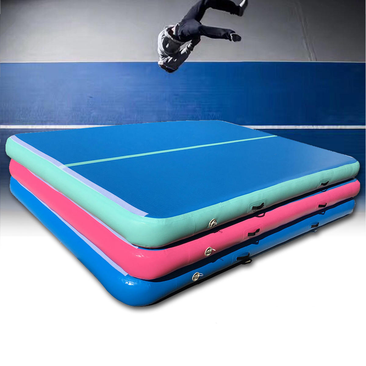 118x78x7.8inch Inflatable GYM Air Track Mat Airtrack Gymnastics Mat Tumbling Practice Training Pad With Repair Kit